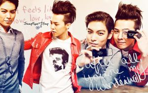 Wallpaper G-Dragon + TOP 5 by Atenais