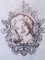 Marilyn Monroe and  filigree by Purple-Phoenix