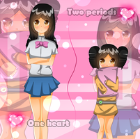 One Heart Two Periods -color- by miracm4