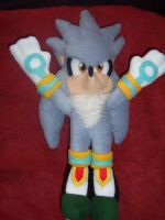SILVER THE HEDGEHOG  PLUSHIE 3 by Victim-RED