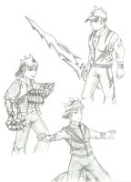 BoboiBoy Sketch Power of Three by Fizzle-Knight
