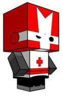 Red Castle Crasher Cubee by sixtimesnine