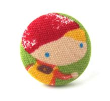 Large ring - boy child cute red green yellow by KooKooCraft