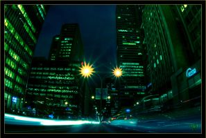 Montreal at night 1 by Pathethic