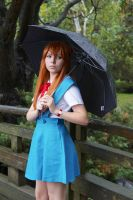 Asuka in the rain 2 by Lightning--Baron