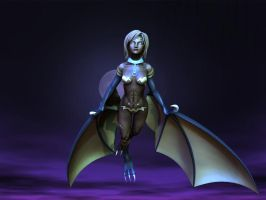 Harpy at night. by Jynxed151