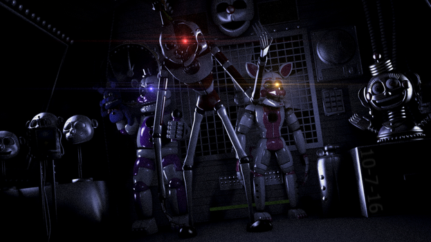 Ennard and the funtimes by rhydonYT