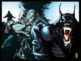 Werewolves VS Zombies Wraparound cover by Jasen-Smith