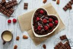 Cocoa pasta with raspberries and white choco sauce by MirageGourmand