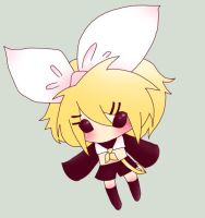 rin kagamine - pink spider by BaggyFace-Chan