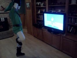 Link Can't Do Wii Fit by KitKatJackster