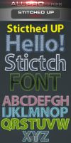Stitched Up Font by ravirajcoomar