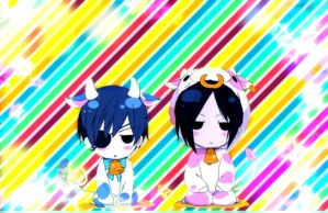 Screen background: Ciel and Sebby! by Otaku-Chan-266