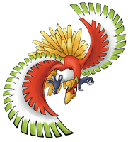 Ho-oh, the Sacred bird by reika-world