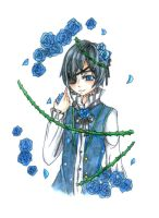 ciel- blue roses by curly-shishi2912