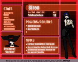 YJ villain Profile Siren by keeper-of-vilya