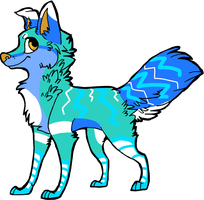 wolf adopt4 CLOSED! by neon-wolf-fun