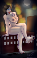 [RAMPAGE/Nudity] Slendi's night out by Apeiron-MACRO