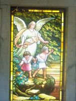 Angel-Children Stained Glass by superclayartist