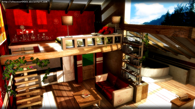 Modern Apartment - MMD stage DL by DiemDo-Shiruhane
