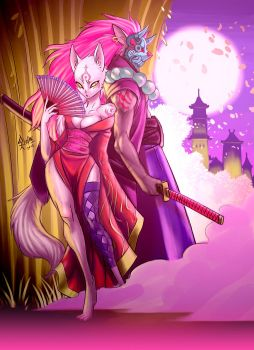 The Godess and The Warrior by luigiix