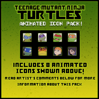 TMNT Animated Icon Pack FREE IN DA by Nashimus