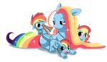 RAINBOW FAMILY by EQUESTRiABOY