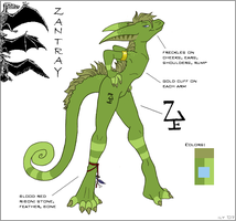 Zantray - Ref sheet by ContrivedOddity