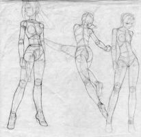 Sketch contruction anime style by SEINICK