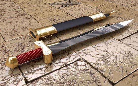 greek sword by loxfear