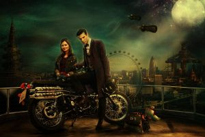 Doctor Who and Clara by ukphoto99