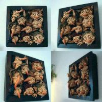 SOLD : Framed Goblins Wall Hanging by FaunleyFae