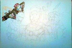 Iron Man 3 WIP 1 by Galbatore