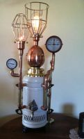 Steampunk Samovar Lamp by jimdavidson3