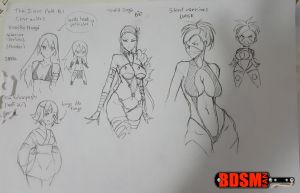 The Silent Path - Character Sketches by bdsm-fan-comics