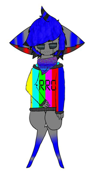 Jamie the Glitchy Android Wolf (ORIGINAL) by Derpmaster28
