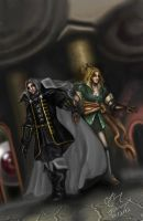 Alucard and Maria by Obsidianwatcher