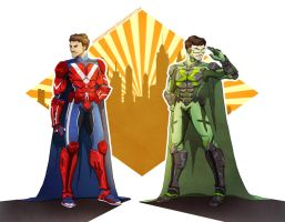 Armored X-Ray and Vav by ViperiumPrime