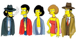 Lupin -simpsons style- by Dasha-KO