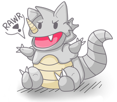 Rhydon by PurrsChibiDream