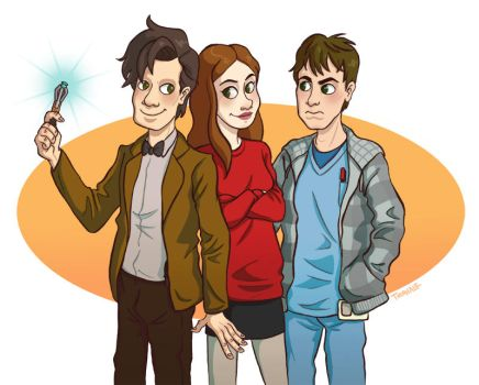 The Doctor, Amy and Rory by TRAVALE