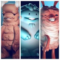 More Monsters from the Month of Monsters by Wetterschneider