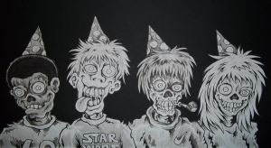 Mad Zombie Party by MonsterInk