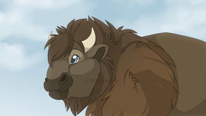 Dawn Frost the Bison by MBPanther