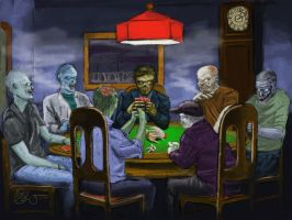 zombie poker by Stuartwebster