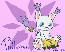 Tailmon Gatomon by ChibiBeckyG