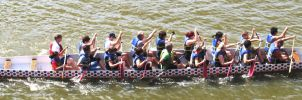 Long Side View Dragonboat by OhioErieCanalGirl