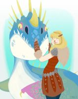 Astrid and Stormfly by SqueakyE