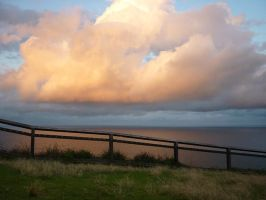 Golden clouds over Byron by SeafaringSarah