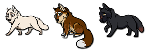 Gift - Fallon, Sage, and Nephrit Chibis by tisea